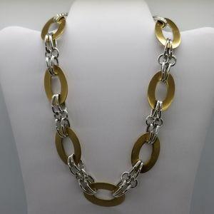 *PREMIER DESIGN Two Tone Metal Link Necklace